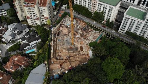 Aerial view with Jelutong Villa, Damansara Villa Peninsula Hotel  10 Semantan in clockwise order