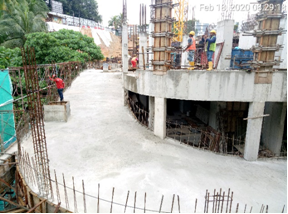 Car park ramp LG3 to LG2   under construction