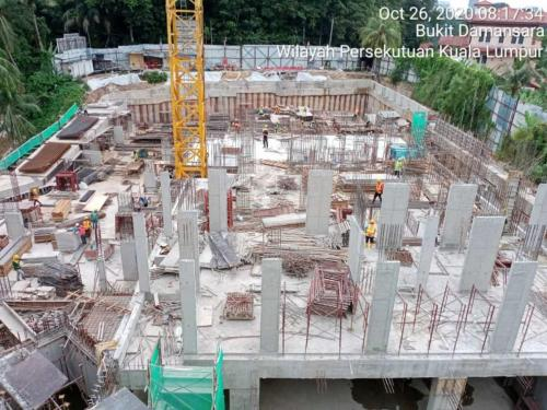 Block A - columns casted at ground floor.