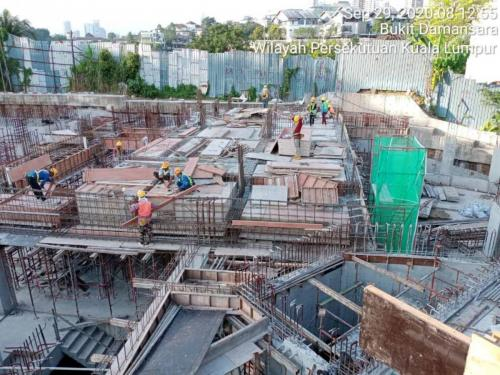 Blk A - formwork laying to the ground floor.