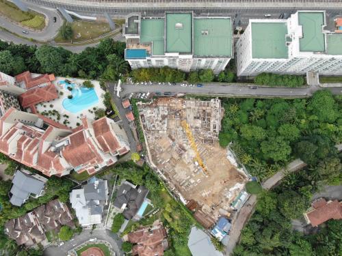 Aerial View with Jalan Semantan at the top