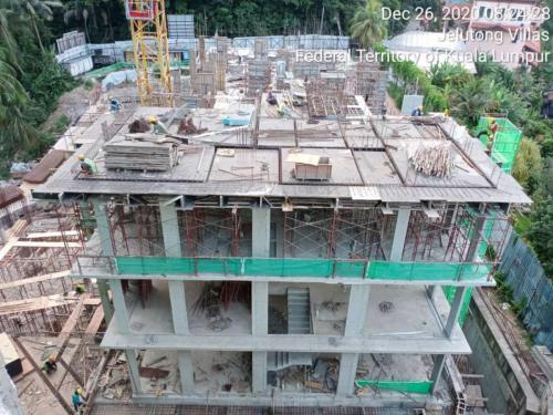 Block A - progress of work at level 3.