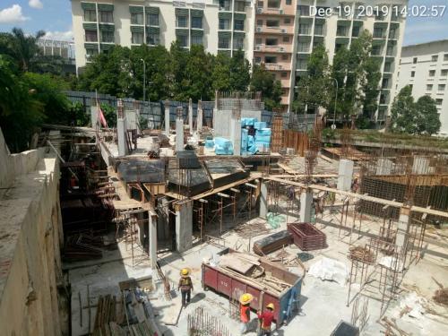 Zone 1 LG1(carpark floor) in progress