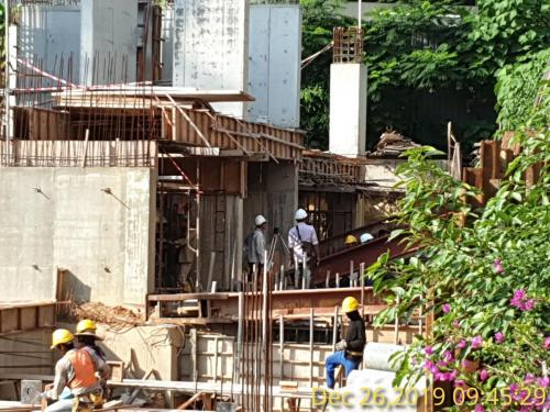 Zone 1 TNB substation columns completed