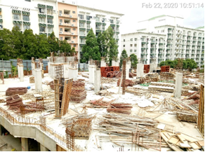 Block B – preparation for ground slab once columns are completed