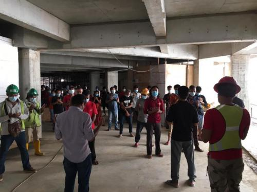 Daily site safety briefing