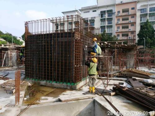 LG1 – Balancing  tank under construction