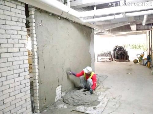Block B - LG1 plastering at car park floor.