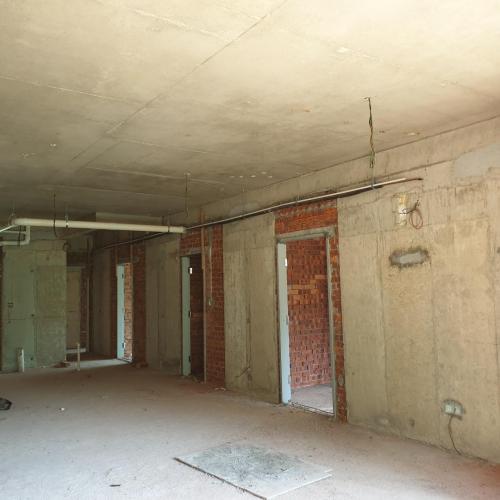 Block B - ground floor - wall and door frame works in progress.