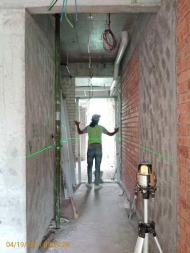 Block B -  door frame installation.