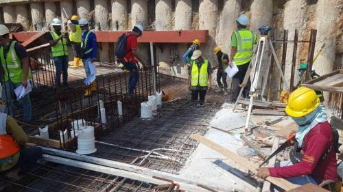 LG1 - floor slab rebars installation