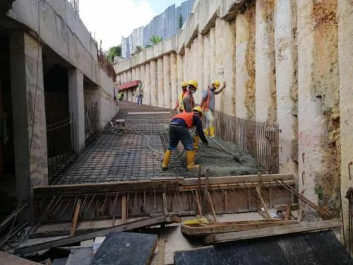 LG1 -  concreting of ramp