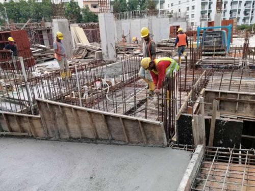 LG1 - concreting of slab in progress